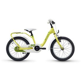 s'cool niXe 16 Børnecykel steel gul